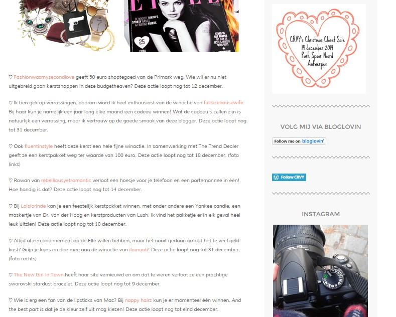 Leuke winacties van andere bloggers op Crvy