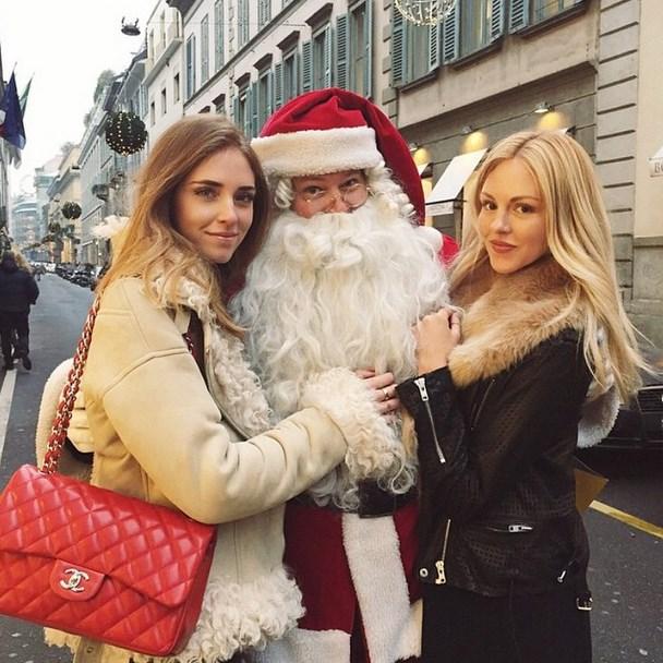 "@Chiaraferragni: ""Santa Klaus is coming to town @peaceloveshea #DaysInMilano"""