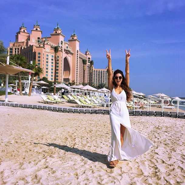 "Blogger @negin_mirsalehi: ""You're in a great mood when... double ✌#negindubai"""