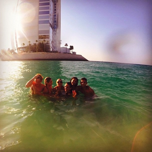 "@selenagomez: ""Thankful for these kind hearted fools.☺#jumeirah#love"""