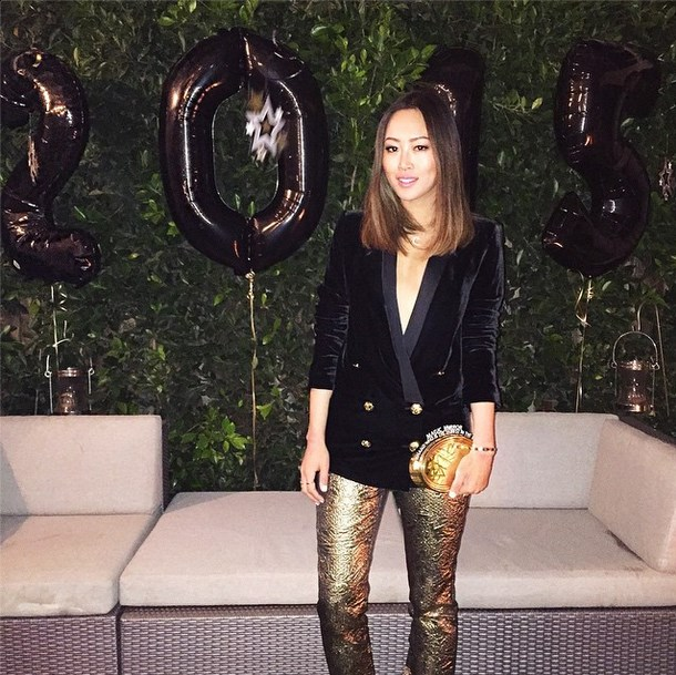 """@songofstyle: """"Ringing in the New Year in black and gold. Wishing you all a wonderful 2 0 1 5 ! It's going to be a much better year! ❤️"""""""