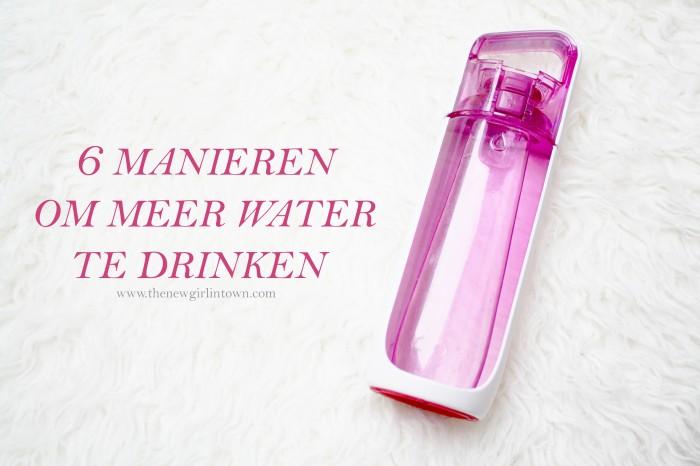 manieren om meer water te drinken